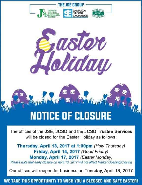 JSE Closure Ad Jamaica Observer (Updated) - RESIZED